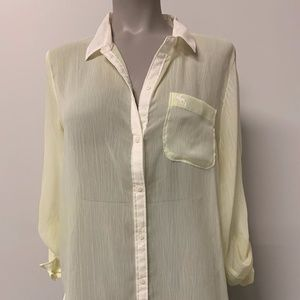 Abercrombie and Fitch Yellow Button Down
